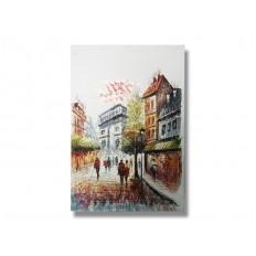 ภาพเขียนสีน้ำมัน วิวในปารีส ขนาด 24x36 นิ้ว