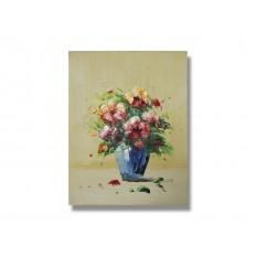ภาพเขียนสีน้ำมัน แจกันดอกไม้ ขนาด 8x10 นิ้ว