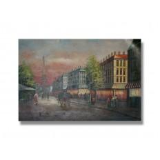 ภาพเขียนสีน้ำมัน เมืองปารีส ขนาด 24 x 36 นิ้ว
