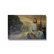 ภาพเขียนสีน้ำมัน พระเยซู ขนาด 24 x 36 นิ้ว