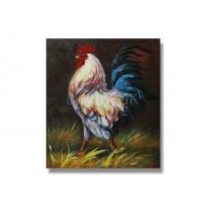 ภาพเขียนสีน้ำมัน ไก่แจ้ ขนาด 20 x 24 นิ้ว