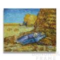 """ภาพวาดสีน้ำมันรูปสไตล์แวนโก๊ะ  """"noon rest from work""""  ขนาดภาพ 20x24 นิ้ว"""