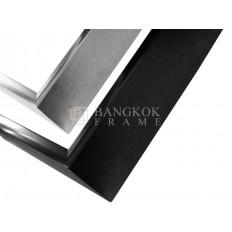 กรอบรูปอลูมิเนียม สีเงิน-สีดำ ขนาด 1/2 นิ้ว