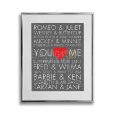 กรอบรูปอลูมิเนียมสีเงิน-ความรัก-คู่รัก-วาเลนไทน์