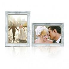 กรอบรูปแต่งงานหลุยส์สีขาว-พลาสติก พิมพ์ภาพ-เคลือบภาพ-2 กรอบ ลด10%