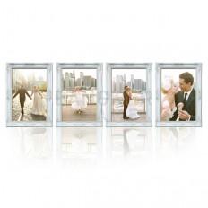 กรอบรูปแต่งงานหลุยส์สีขาว-พลาสติก-ชุด 4 ชิ้น