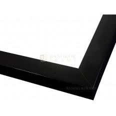 กรอบรูปไม้จริง สีดำ ขนาด 1 นิ้ว